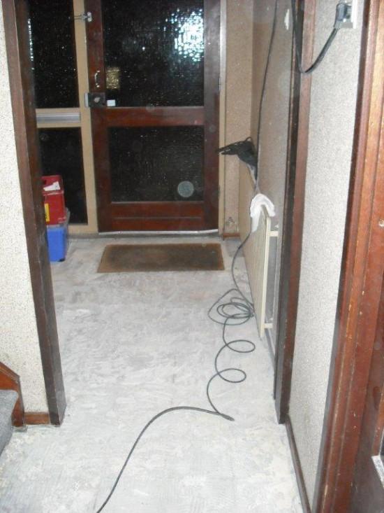 1 tijdens renovatie gang vloer
