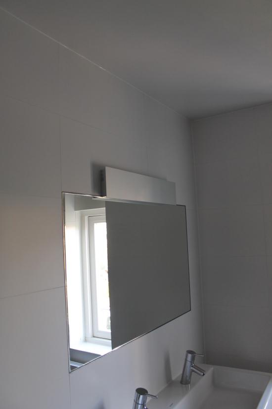 eind resultaat ingebouwde spiegel